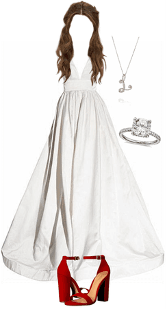 white poofy prom dress