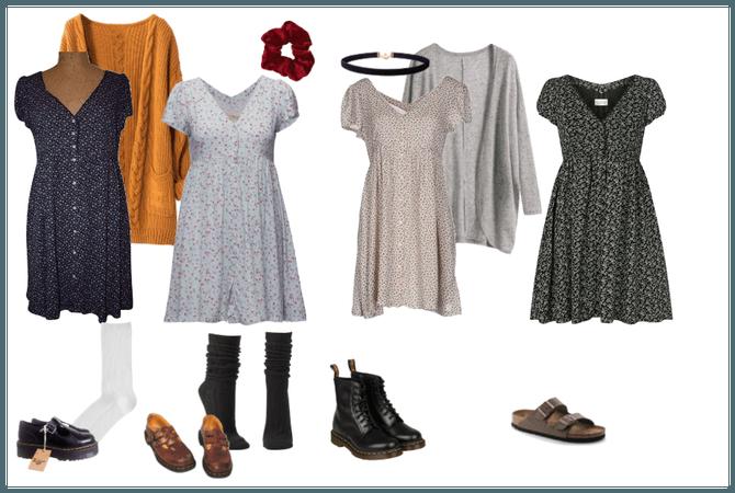 Four Different Floral Dresses