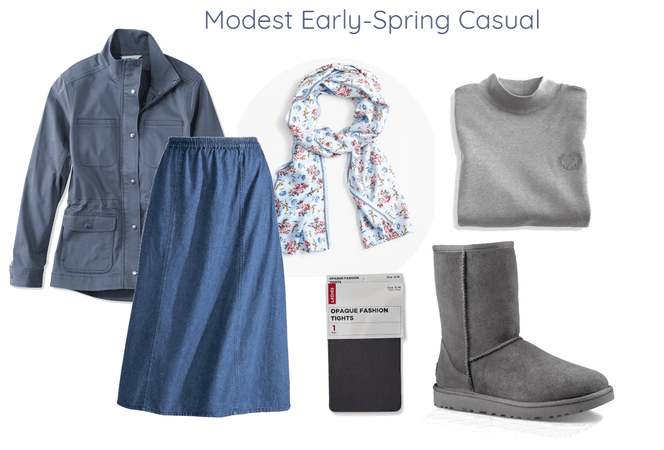 Modest Early-Spring Casual