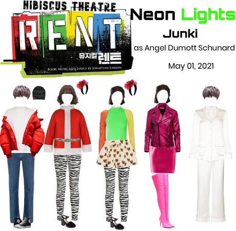 Neon Lights Junki as Angel in Hibiscus RENT