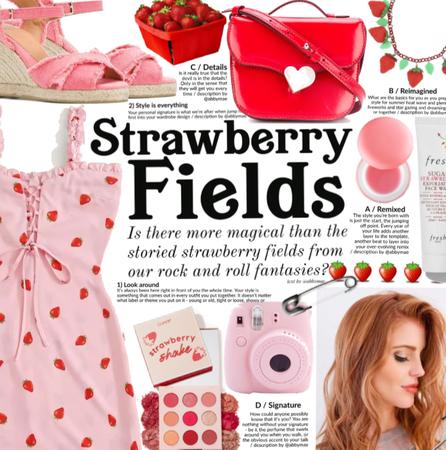 Running wild in a strawberry fields 🍓💕