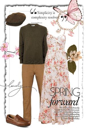 spring engagement session