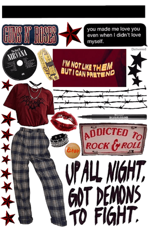 red and black punk rock