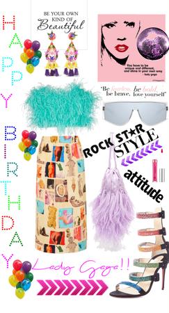 Gaga's Birthday Style🎉