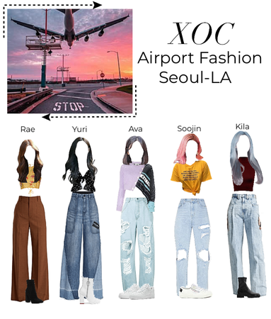 Seoul-LA Airport fashion