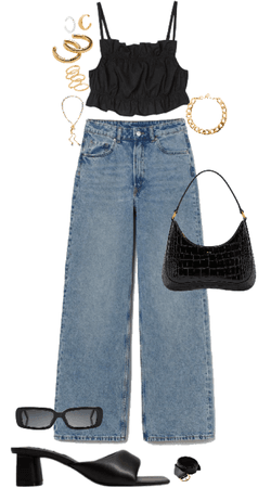 night out jean outfit
