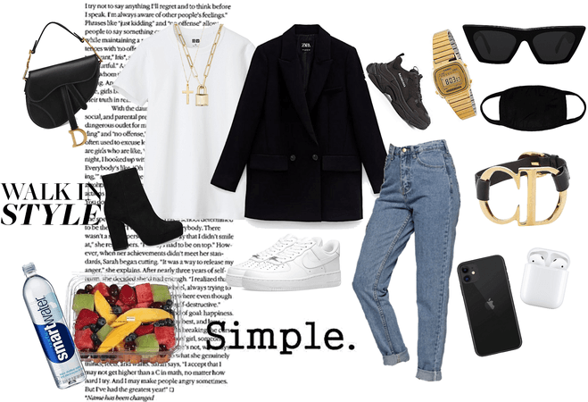 Kind of simple classy casual daily outfit for work or school.