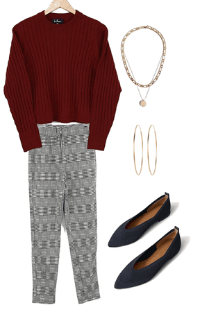 cozy and chic wfh look