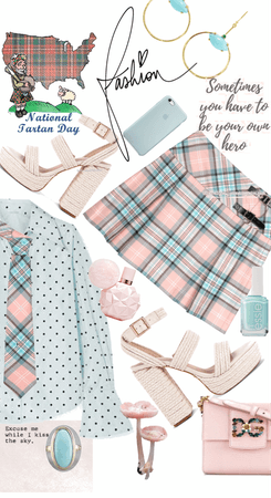Who knew Tartan Pink & Blue?