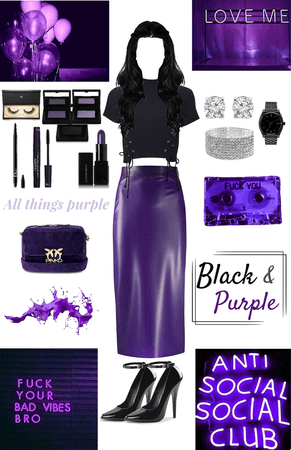 A Black & Purple Midnight Dream