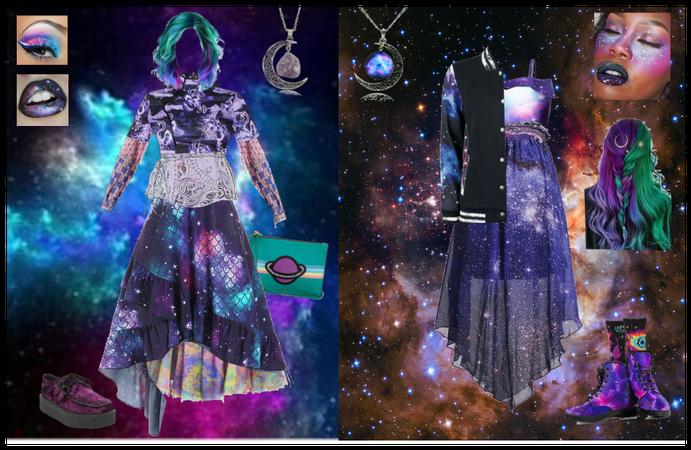 Intergalatic Girlfriends: OOAK spacey prom gowns