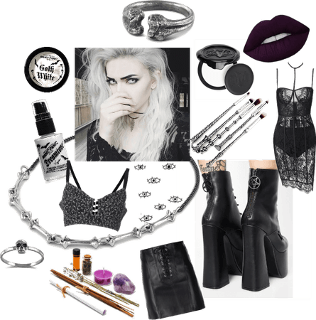 Black & White Goth Witch Look