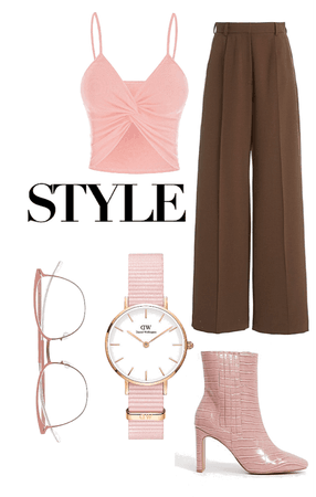 Chocolate brown & Pink