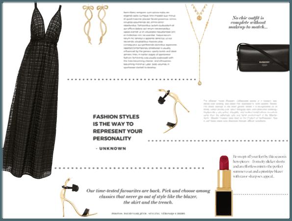LBD- Long Black Dress