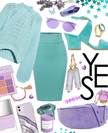 lavender and aqua