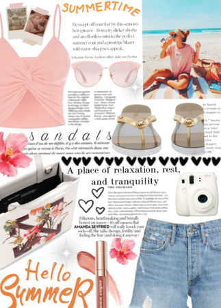 Soft pink sandals.