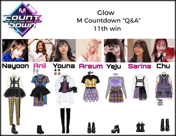"Glow M countdown ""Q&A"" 11th win"