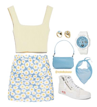 Daisy Pastel Summer Look