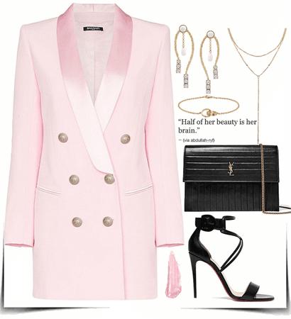 Pink formal look