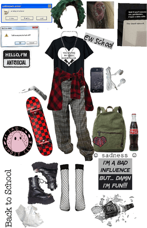 back to school - grunge