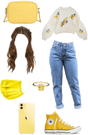 yellow flower outfit