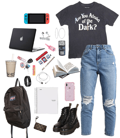 lazy school outfit