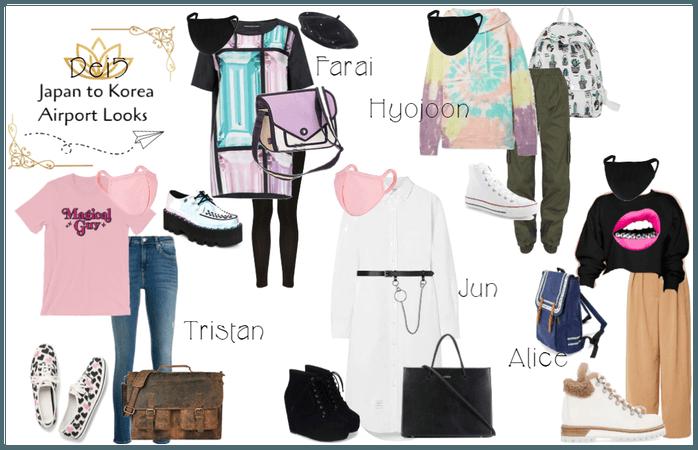 Dei5 Japan to Korea Airport Fashion post MAMA