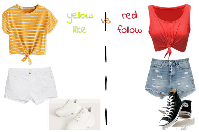 red vs yellow plz put ur team in the Comments