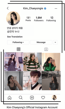 Kim Chaeyong's Official Instagram Account