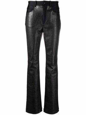 Shop Alexander Wang high-waisted bodycon trousers with Express Delivery - FARFETCH