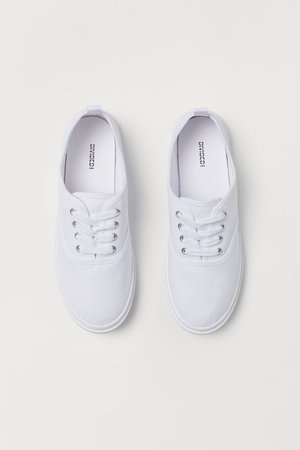 Canvas trainers - White - | H&M