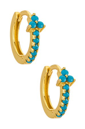 ALEYOLE Zola Earring in Turquoise & Gold   REVOLVE