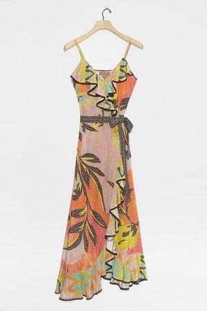 Kathryn Wrap Midi Dress   Anthropologie