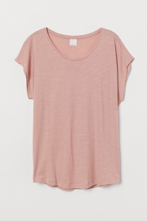 Cotton-blend T-shirt - Orange