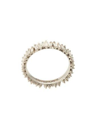 Silver Suzanne Kalan 18Kt White Gold Baguette Diamond Eternity Band | Farfetch.com