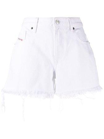 Diesel distressed denim shorts - FARFETCH