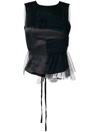 Act N°1 tulle back top $445 - Buy Online SS19 - Quick Shipping, Price