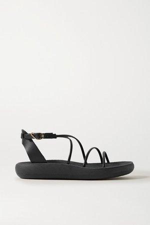 Anastasia Leather Sandals - Black