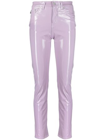 Fiorucci Yves mid-rise glossy trousers - FARFETCH