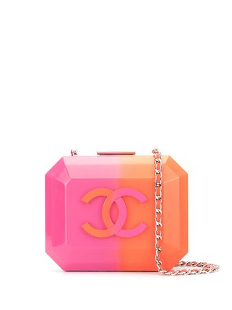 Chanel Pre-Owned Structured Logo Crossbody Bag