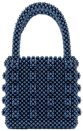 Antonia beaded tote bag