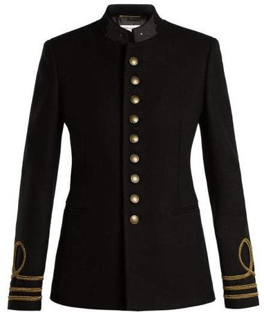 Single Breasted Wool Coat - Womens - Black