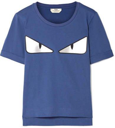 Wonders Appliquéd Cotton-jersey T-shirt - Storm blue