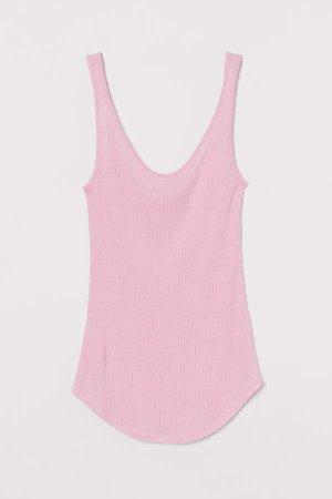 Silk-blend Tank Top - Pink