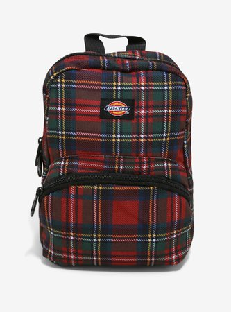 Dickies Red Plaid Mini Backpack