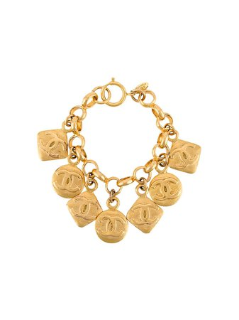 Chanel Pre-Owned 1980's Chanel Bracelet BL009031 Gold | Farfetch