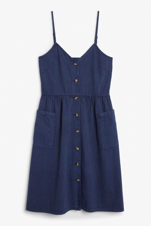 Denim dress - Old indigo - Dresses - Monki GB