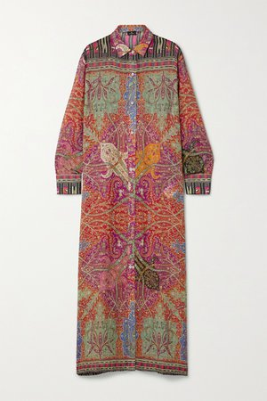 Multi Karabair printed silk-georgette maxi dress | Etro | NET-A-PORTER