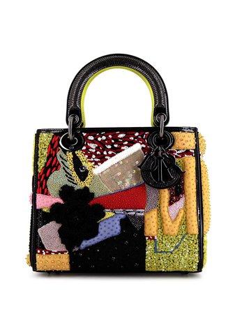 Christian Dior 2019 pre-owned Lady Dior Edition Limitée Mickalene Thomas Medium Handbag - Farfetch