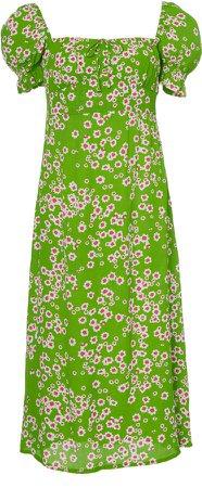 Evelyn Floral-Print Midi Dress